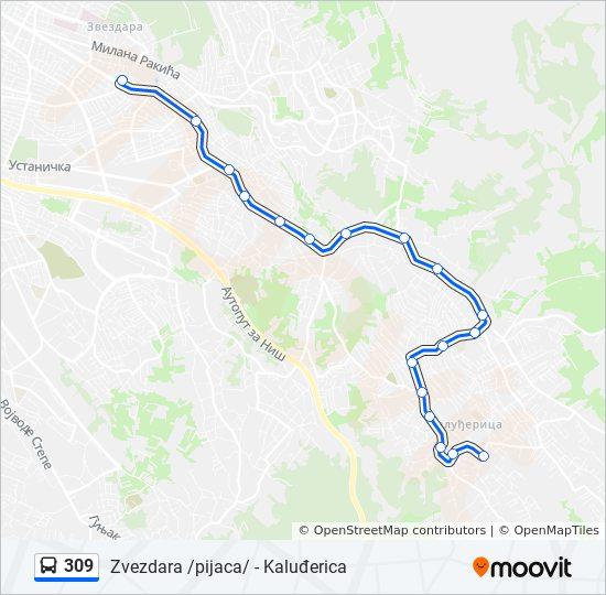 Linea 309 Horarios Mapas Y Paradas Zvezdara Pijaca