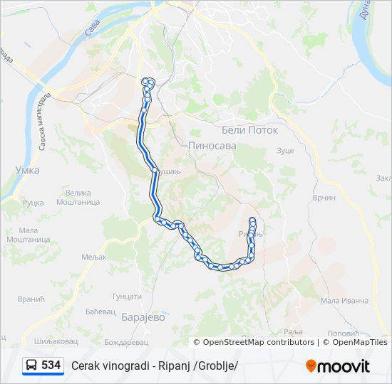 Linea 534 Horarios Mapas Y Paradas