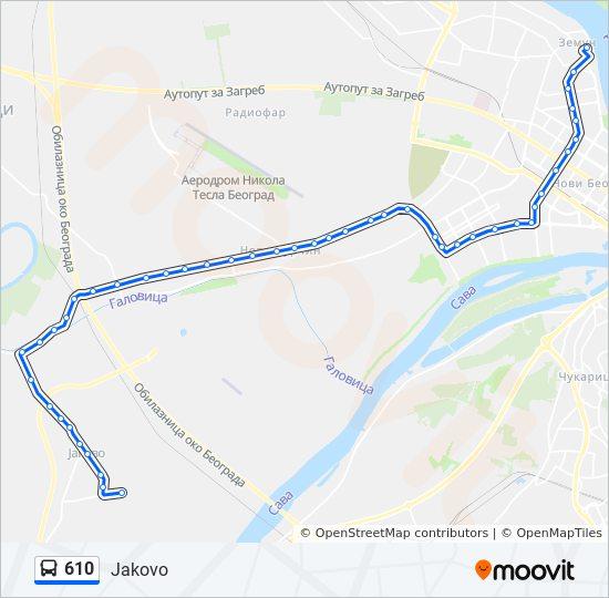 Ruta 610 Vremenski Rasporedi Stanice I Mape Jakovo