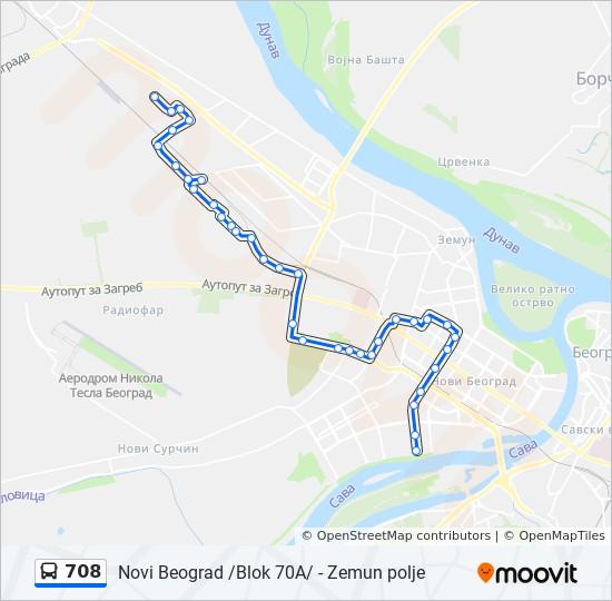 Linea 708 Horarios Mapas Y Paradas