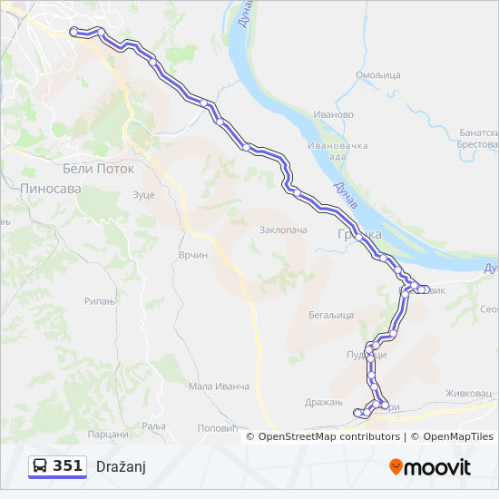 351 Route Time Schedules Stops Maps Drazanj