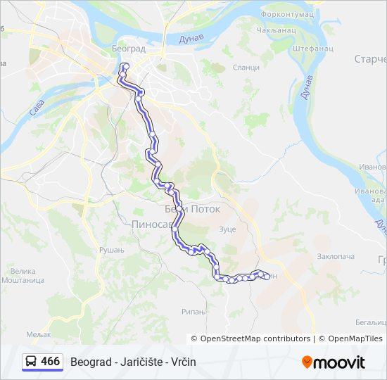 beograd vrcin mapa Línea 466: horarios, mapas y paradas beograd vrcin mapa