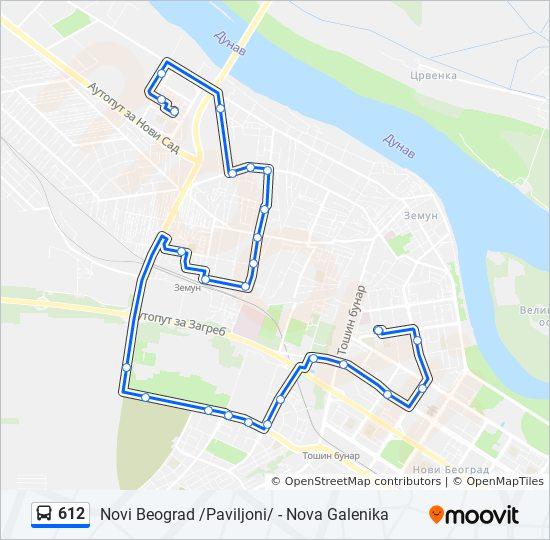 Ruta Ng 612 Iskedyul Ng Oras Hintuan Mapa Novi Beograd