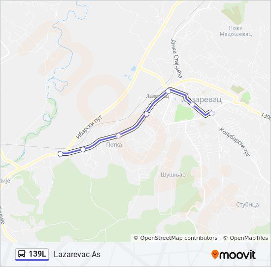 Rota Da Linha 139l Horarios Estacoes E Mapas Lazarevac As
