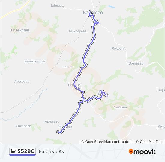 selo lisovici srbija mapa 5529C trasa: Vremena polazaka, stajališta i mape selo lisovici srbija mapa