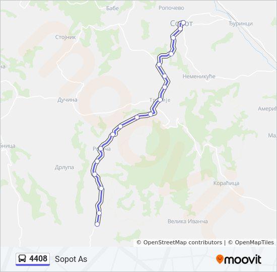 Rota Da Linha 4408 Horarios Estacoes E Mapas Sopot As