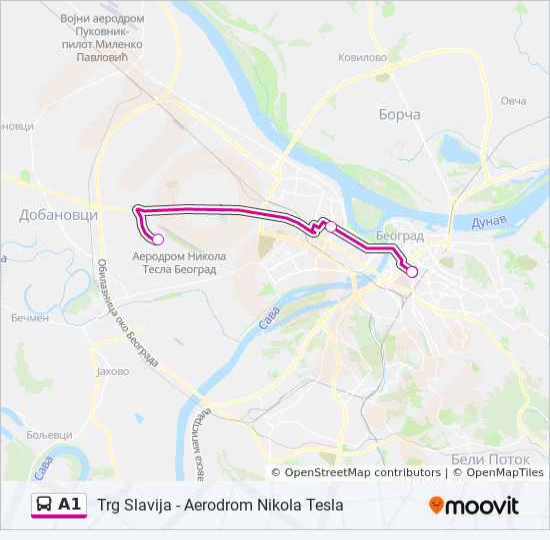 Ruta Ng A1 Iskedyul Ng Oras Hintuan Mapa Trg Slavija
