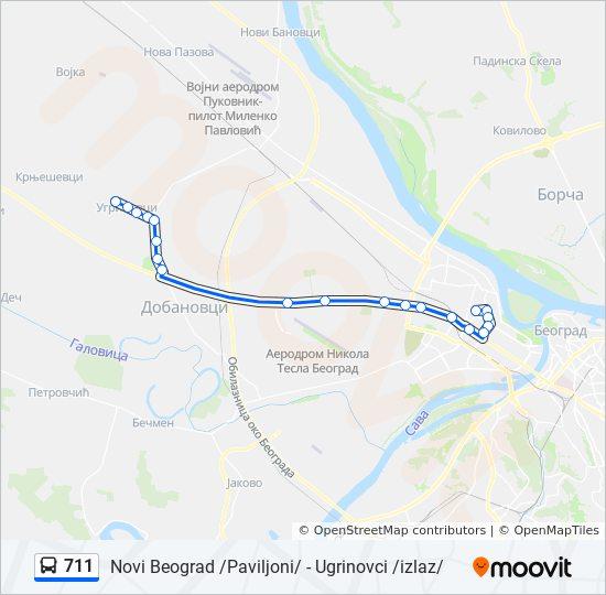 Rota Da Linha 711 Horarios Estacoes E Mapas Simanovci