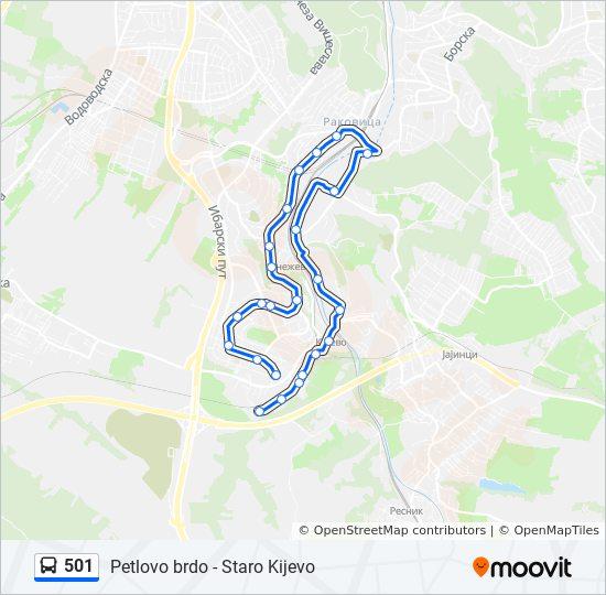 petlovo brdo beograd mapa 501 trasa: Vremena polazaka, stajališta i mape petlovo brdo beograd mapa