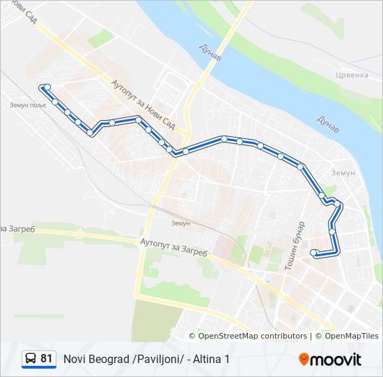 Linea 81 Horarios Mapas Y Paradas Novi Beograd Paviljoni