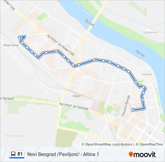 altina beograd mapa Rota da linha 81: horários, mapas e estações altina beograd mapa