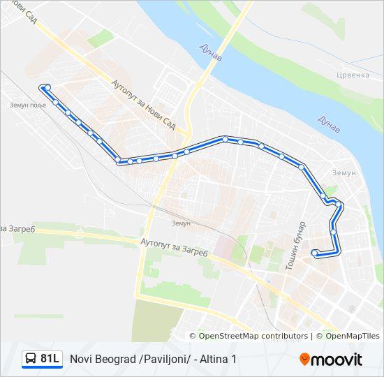 paviljoni novi beograd mapa Línea 81L: horarios, mapas y paradas paviljoni novi beograd mapa