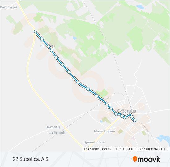 Ruta Ng 22 Iskedyul Ng Oras Hintuan Mapa 22 Subotica A S
