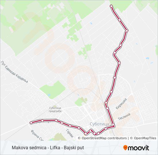 Ruta 3 Vremenski Rasporedi Stanice I Mape Bajski Put