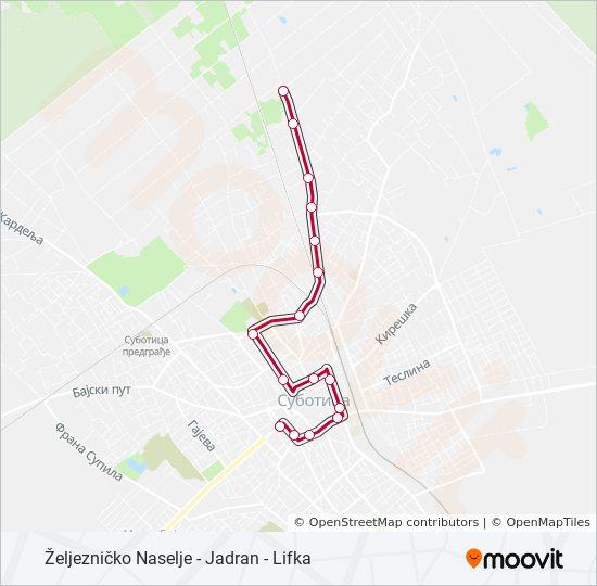 Ruta 8a Vremenski Rasporedi Stanice I Mape Lifka