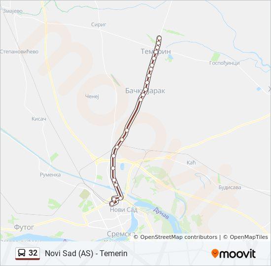 32 Trasa Redovi Voznje Stajalista I Mape Autobuska Stanica