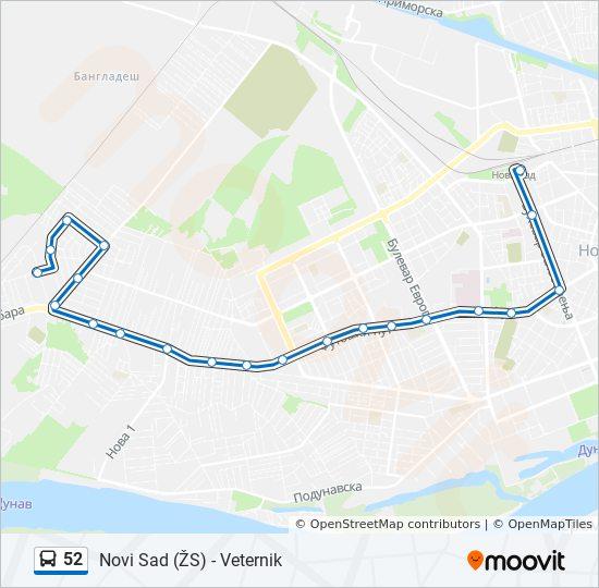 Rota Da Linha 52 Horarios Estacoes E Mapas Veternik