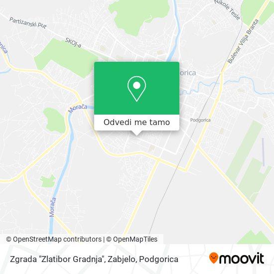 """Zgrada """"Zlatibor Gradnja"""", Zabjelo mapa"""