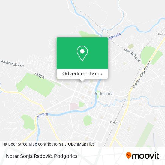 Notar Sonja Radović mapa