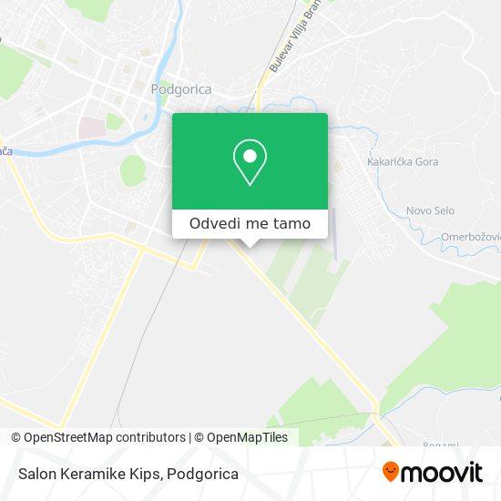 Salon Keramike Kips mapa