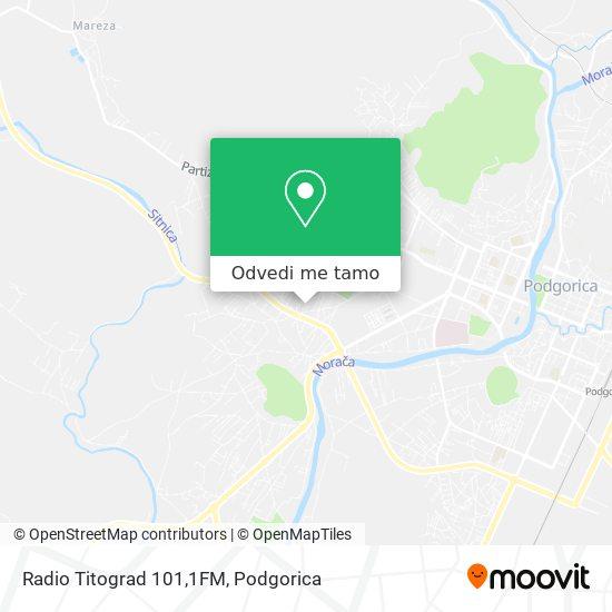 Radio Titograd 101,1FM mapa