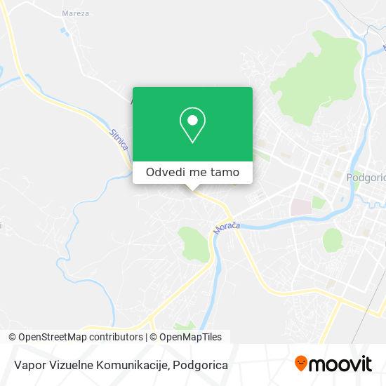 Vapor Vizuelne Komunikacije mapa