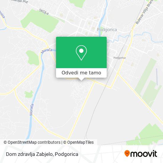 Dom zdravlja Zabjelo mapa
