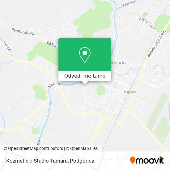 Kozmetički Studio Tamara mapa