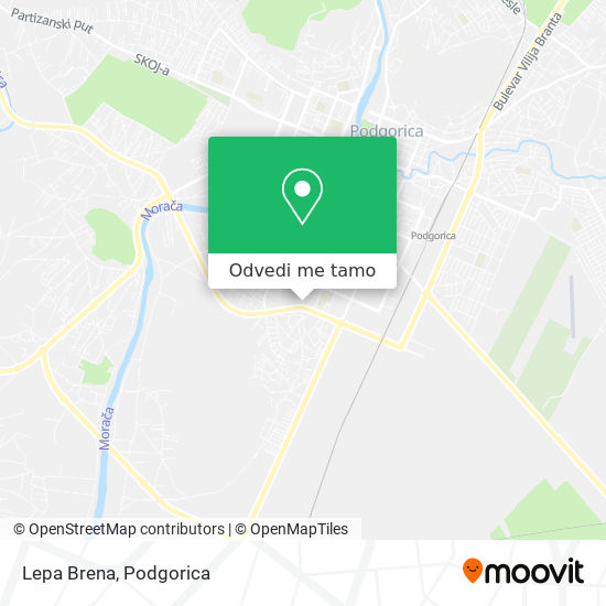 Lepa Brena mapa