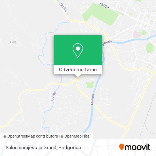 Salon namještaja Grand mapa