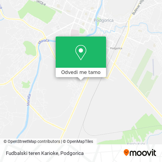 Fudbalski teren Karioke mapa