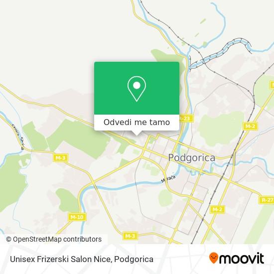 Unisex Frizerski Salon Nice mapa