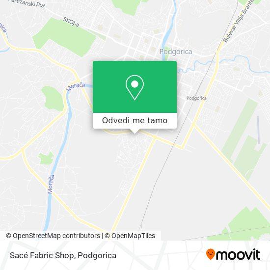 Sacé Fabric Shop mapa