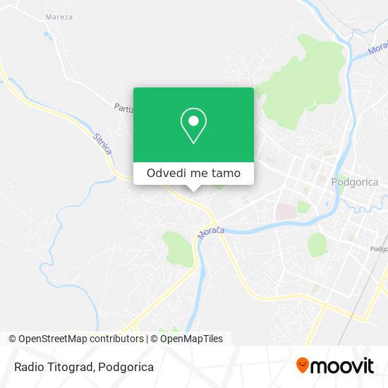 Radio Titograd mapa
