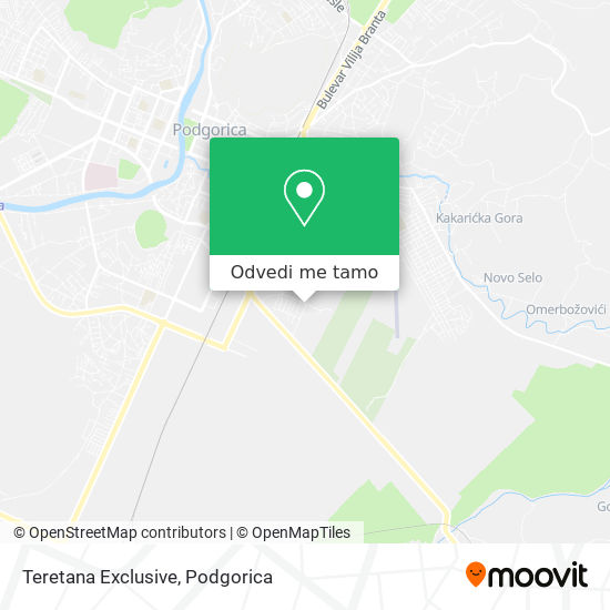 Teretana Exclusive mapa