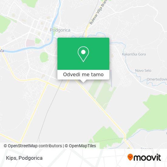Kips mapa