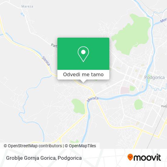 Groblje Gornja Gorica mapa