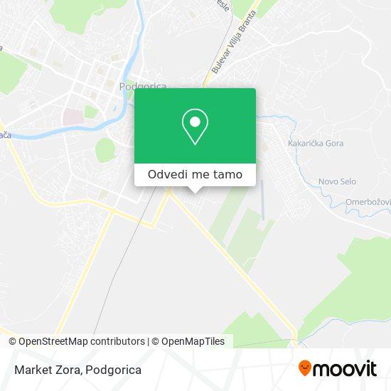 Market Zora mapa