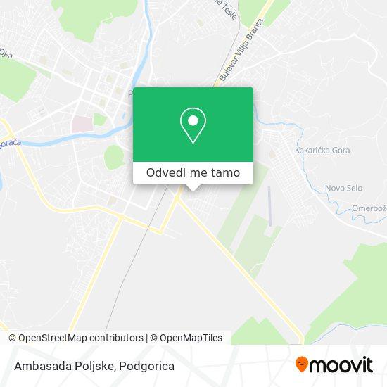 Ambasada Poljske mapa