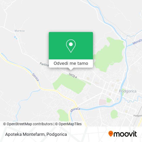 Apoteka Montefarm mapa