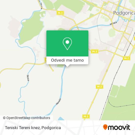 Teniski Tereni knez mapa