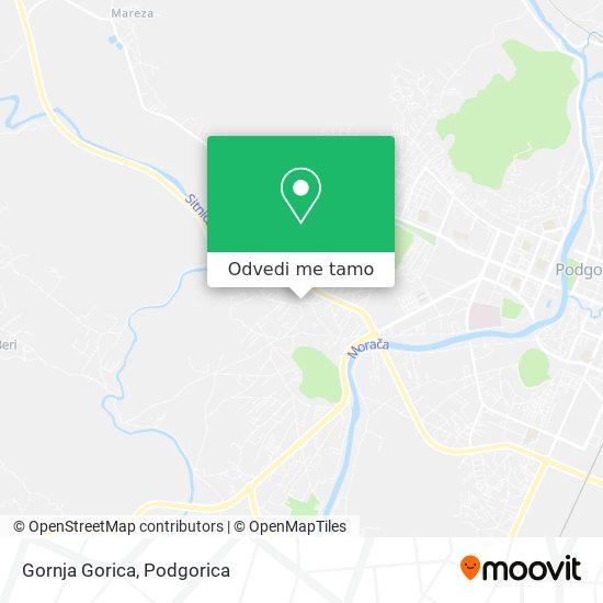 Gornja Gorica mapa