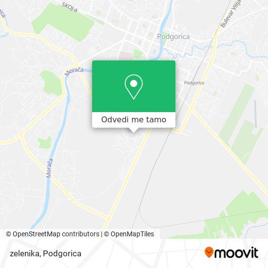 zelenika mapa