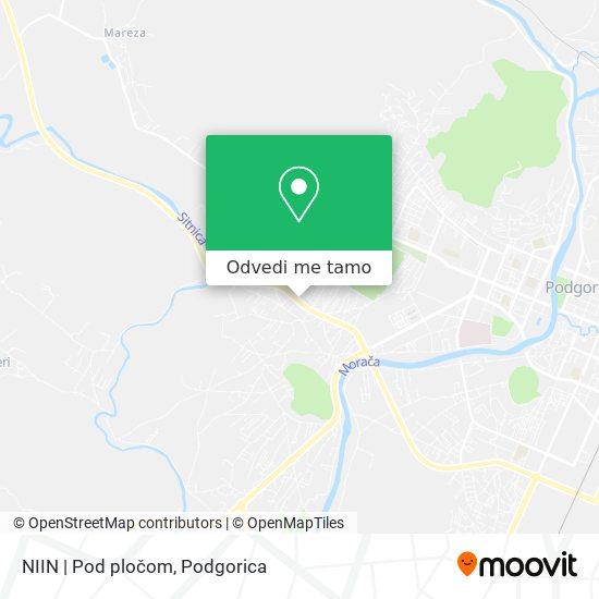 NIIN | Pod pločom mapa
