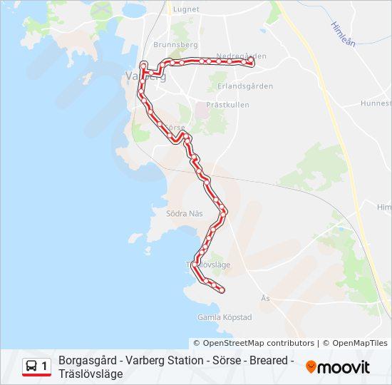 1 Rutt Tidsschema Stopp Kartor Borgasgard Via Centrum
