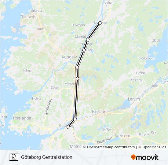 karta över älvängen ÄLVÄNGEN STATION   GÖTEBCENTRALSTATION Rutt: Tidsschema, Stopp  karta över älvängen