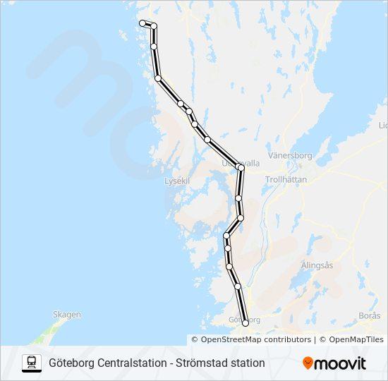 kart strømstad gøteborg GÖTEBCENTRALSTATION   STRÖMSTAD STATION Rutetidtabeller, Stopp  kart strømstad gøteborg