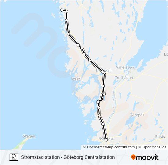 kart strømstad gøteborg STRÖMSTAD STATION   GÖTEBCENTRALSTATION Rutetidtabeller, Stopp  kart strømstad gøteborg