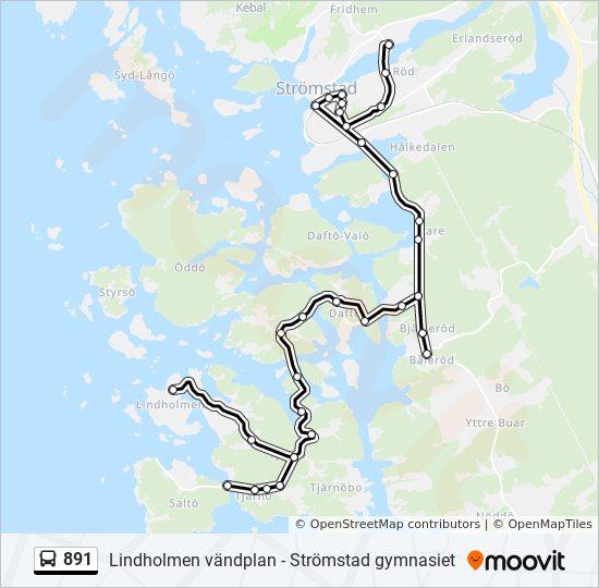 891 Rutt Tidsschema Stopp Kartor Stromstad Gymnasiet
