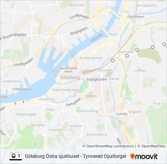 svingeln göteborg karta 1 Rutt: Tidsschema, Stopp & Kartor svingeln göteborg karta